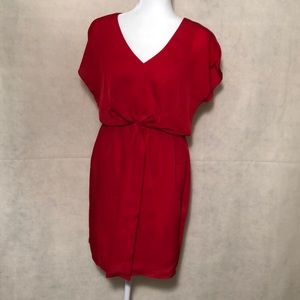 Vince Camuto Red Flutter Sleeve Dress Size 8 New